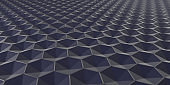 3D Geometric Abstract Hexagonal Wallpaper Background