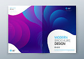 Minimal modern front and rear cover design. Dynamic colorful gradients. Future geometric patterns. poster template vector design.