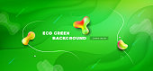 Liquid green color background design. Fluid green gradient shapes composition. Futuristic design posters. Eps10 vector.