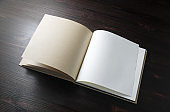 Open blank book