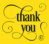 Thank You lettering with swirls