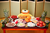 childrens birthday party with fresh fruits and rice cakes