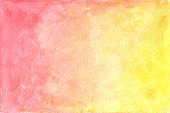 Watercolor pastel red and yellow painted texture.
