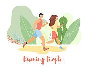 Modern cartoon flat characters doing summer sport activity,landing page,sales banner flyer poster,web online concept of healthy lifestyle design.Flat cartoon family people running,sporting,training