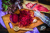 raw beetroot grated