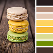 Stacked macaroons palette