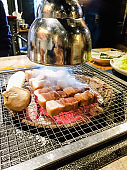 Korean barbecue pork, Traditional Korean food and famous.