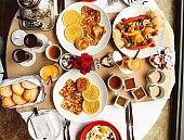 buffet breakfast with fruit