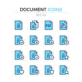 Document icons. Vector line icons set. Premium quality. Simple thin line design. Modern outline symbols collection, pictograms.