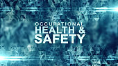 Occupational health and safety safe work place WHS HSE OSH title illustration