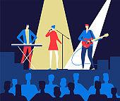 Music festival - flat design style colorful illustration