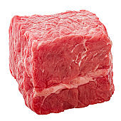 meat, beef, cube, isolated on white background, clipping path, full depth of field