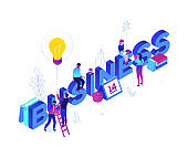 Business and finance - modern colorful isometric vector illustration
