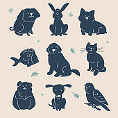 Guess the animal - set of characters silhouettes