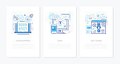 Programming concept - line design style banners set