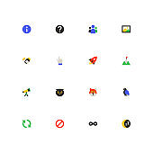 Business and marketing - colorful material design icons set