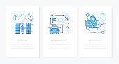 Navigation - vector line design style banners set