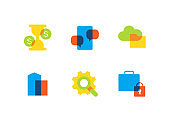 Business and finance - flat design style icons set
