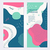 Colorful templates - set of modern abstract vertical banners