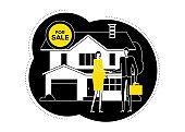 House for sale - flat design style illustration