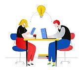 Task management - flat design style colorful illustration