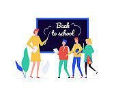 Back to school - flat design style illustration