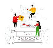 Copywriting - modern flat design style colorful illustration