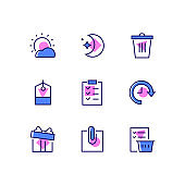 Office work - line design style icons set