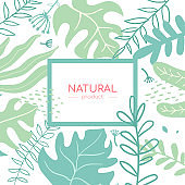 Natural product - modern flat design style abstract banner