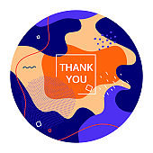 Thank you - modern vector abstract web banner
