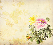 peony flower,Traditional chinese ink painting.