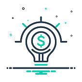 Lightbulb on with dollar sign