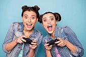 Energetic cheerful teenagers
