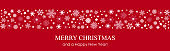 Snowflake border background for Christmas card - for stock