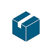 Box exprees icon, delivery logo, shopping sign - vector for stock