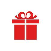 Gift icon, box sign - stock vector