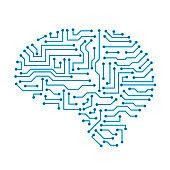 Creative technology human brain with neural bonds - for stock vector