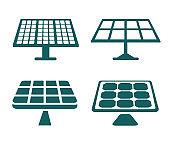 Set solar battery – stock vector