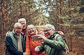 Seniors taking a Selfie
