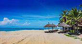 Cua Dai, sandy sea beach near Hoi An in Vietnam
