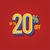 Sale Discount up to 10% off Vector Template Design Illustration