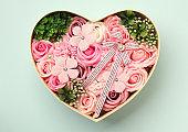 Rose soap flower gift box
