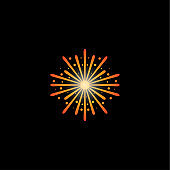 Firework Vector Design Template. Design for Celebrate and Anniversary