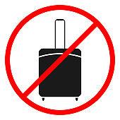 Icon ban luggage.