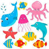 Cute sea animals.