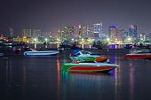 Beautiful night cityscape of  Pattaya, Thailand