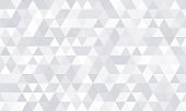 Background pattern, white geometric abstract polygon shape. Vector modern gray minimal mosaic tile, triangular diamond line, backdrop flat background design