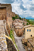 Montepulciano old town in Tuscany