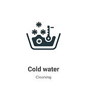 Cold water vector icon on white background. Flat vector cold water icon symbol sign from modern cleaning collection for mobile concept and web apps design.