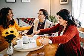 Tea party for group of senior women